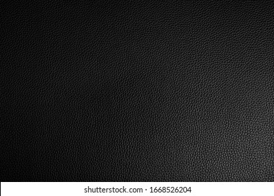 Black leather texture background surface.