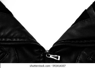 Black leather texture close up background.
