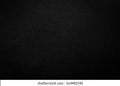 Black leather texture close up background, Black concept.