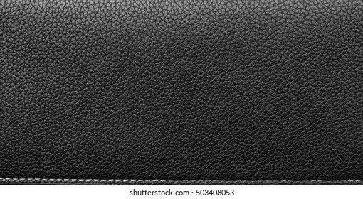 black leather texture and pattern