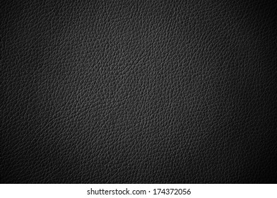Black leather texture with vignette