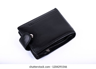 black leather wallet for money