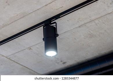 Black led spotlight