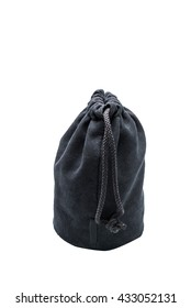 Black Lens bag isolated on white background