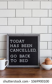 black letterboard quote go back to bed lifestyle sleepy