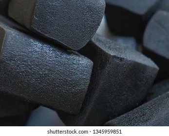Black Licorice Candy. Close Up View.