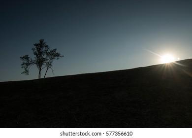 Black light outdoor viewpoint