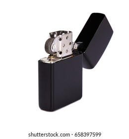 black lighter in white background