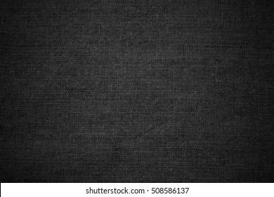 black linen texture or cotton black background