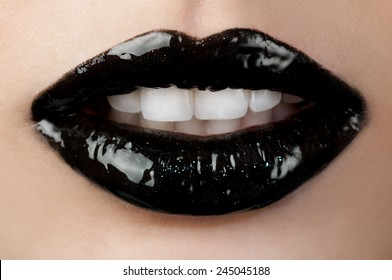 Black lip gloss