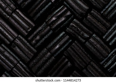 Black as liquorice, abstract pattern background