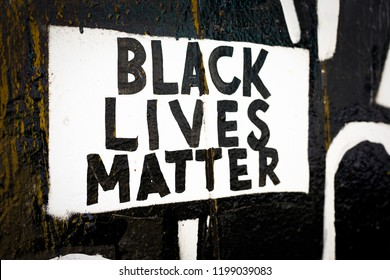 Black Lives Matter mural at the Clarion Alley Mural Project in San Francisco, CA.
