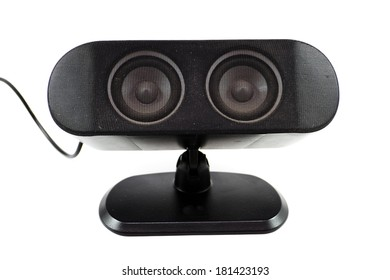 Black Loudspeaker with Cable