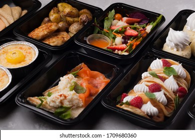 black lunch box food delivery