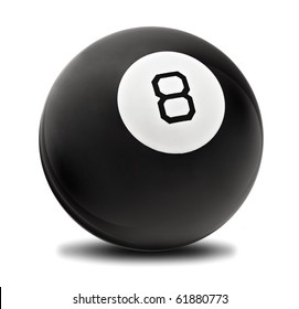 Black Magic Ball with No 8 on the back
