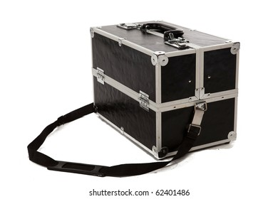 Black Make Up Case on White Isolated Background