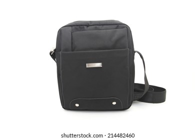 Black male bag Isolated on white