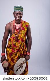 Black Male dressed in African Print