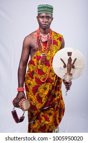 Black Male dressed in African Print