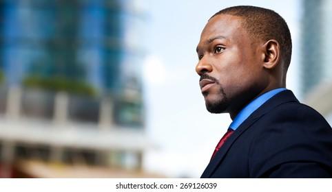 Black male manager portrait
