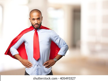 black man hero angry expression