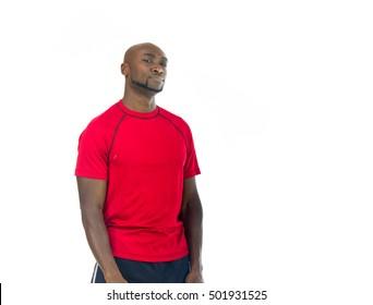 black man model isolated white background