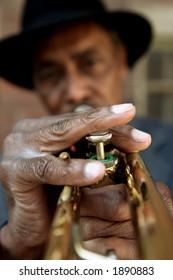 Black Man and Trumpet
