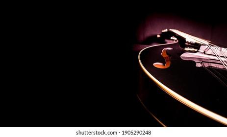 Black Maple Top Mandolin On Black Background F Holes - Shutterstock ID 1905290248