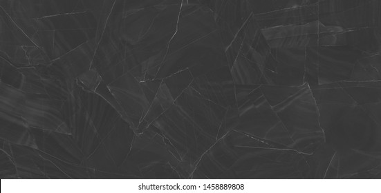 black marbel with white veins ,Black marble natural pattern for background, abstract black and white