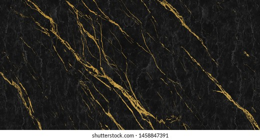 black marble with golden veins ,Black marbel natural pattern for background, abstract black white and gold, black and yellow marble, hi gloss marble stone texture for digital wall tiles design.