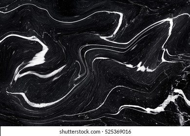 Black Marble ink texture acrylic painted waves texture background. pattern can used for wallpaper or skin wall tile luxurious.