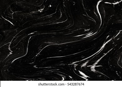 Black Marble ink texture acrylic painted waves texture background. pattern can used for wallpaper or skin wall tile luxurious or Cover case mobile phone.