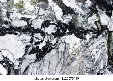 Black marble stone material background with cracked lines