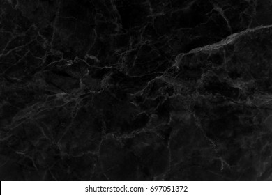 Black marble texture background pattern with high resolution.