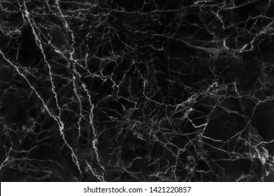 Black marble texture with natural pattern for background or design art work.