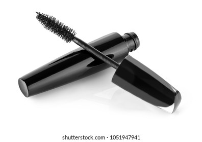 Black Mascara isolated on white background
