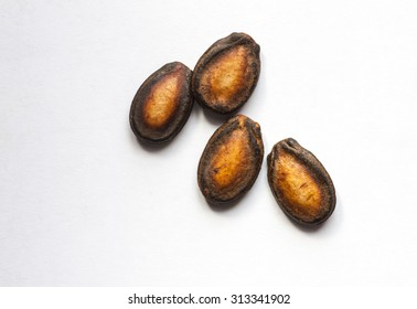 Black Melon Seeds on white background