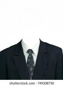 men suit black necktie brown template stock photo edit now
