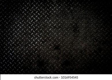 Black metal background or black steel surface