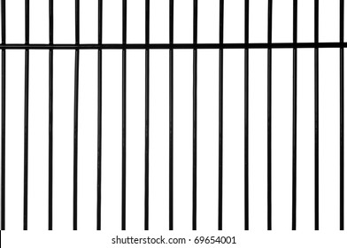 Black metal bars with white background