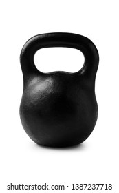 Black metal bodybuilding weightlifting isolated on white