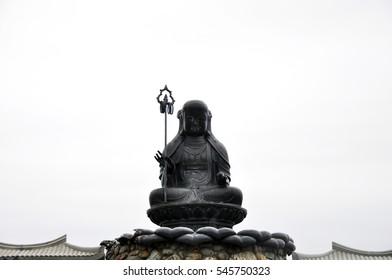 Black Metal Buddha Statue