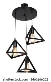 Black Metal Home Ceiling Accessory Lighting Chandelier