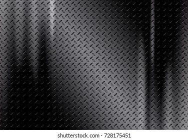 Black metal plate background or black stainless texture abstract