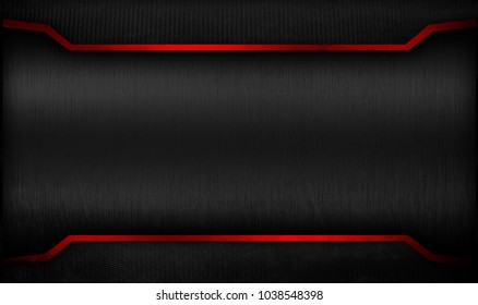black metal template with mesh background