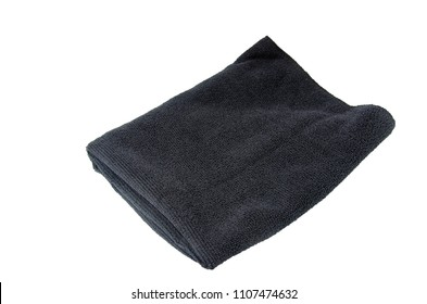 Black Microfiber cloth on the white background.