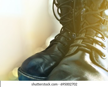 black Military boots is Boots for soldiers