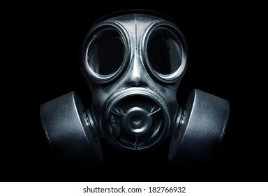 A Black Military Gas Mask For Protection