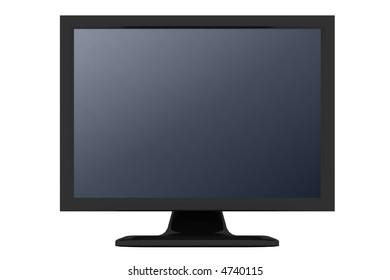 black monitor with gray shade