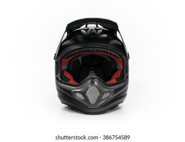 Black motocross helmet
